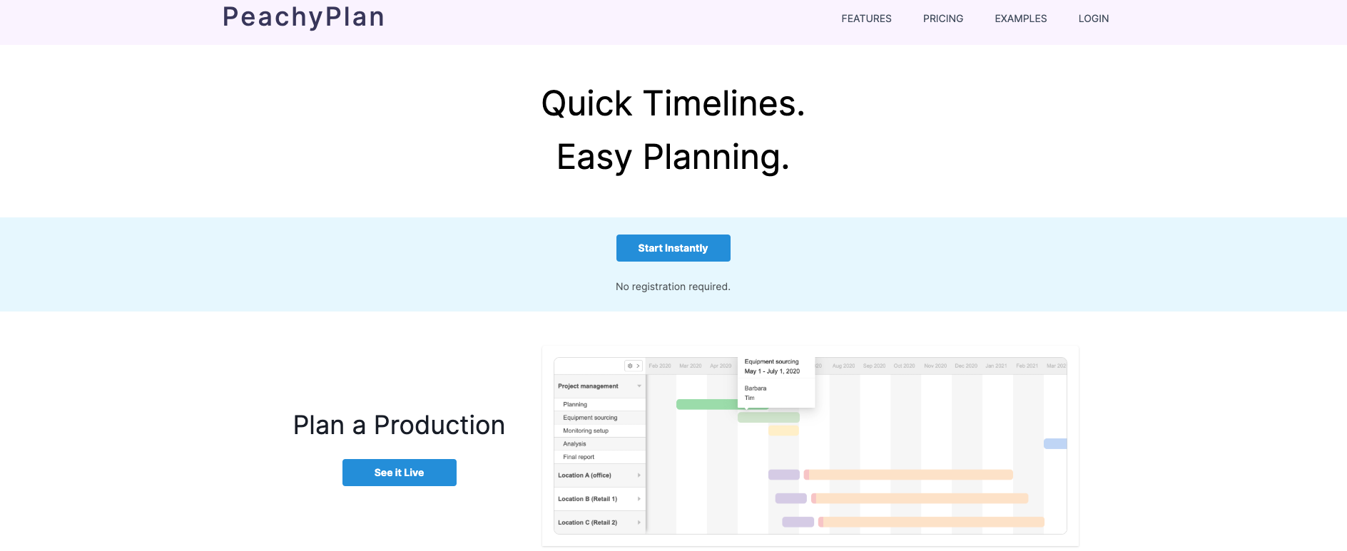 "alt=""landing page for Peachy Plan"""